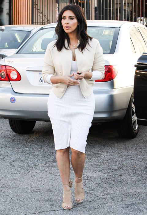 Kim Kardashian - shoulder length and layered
