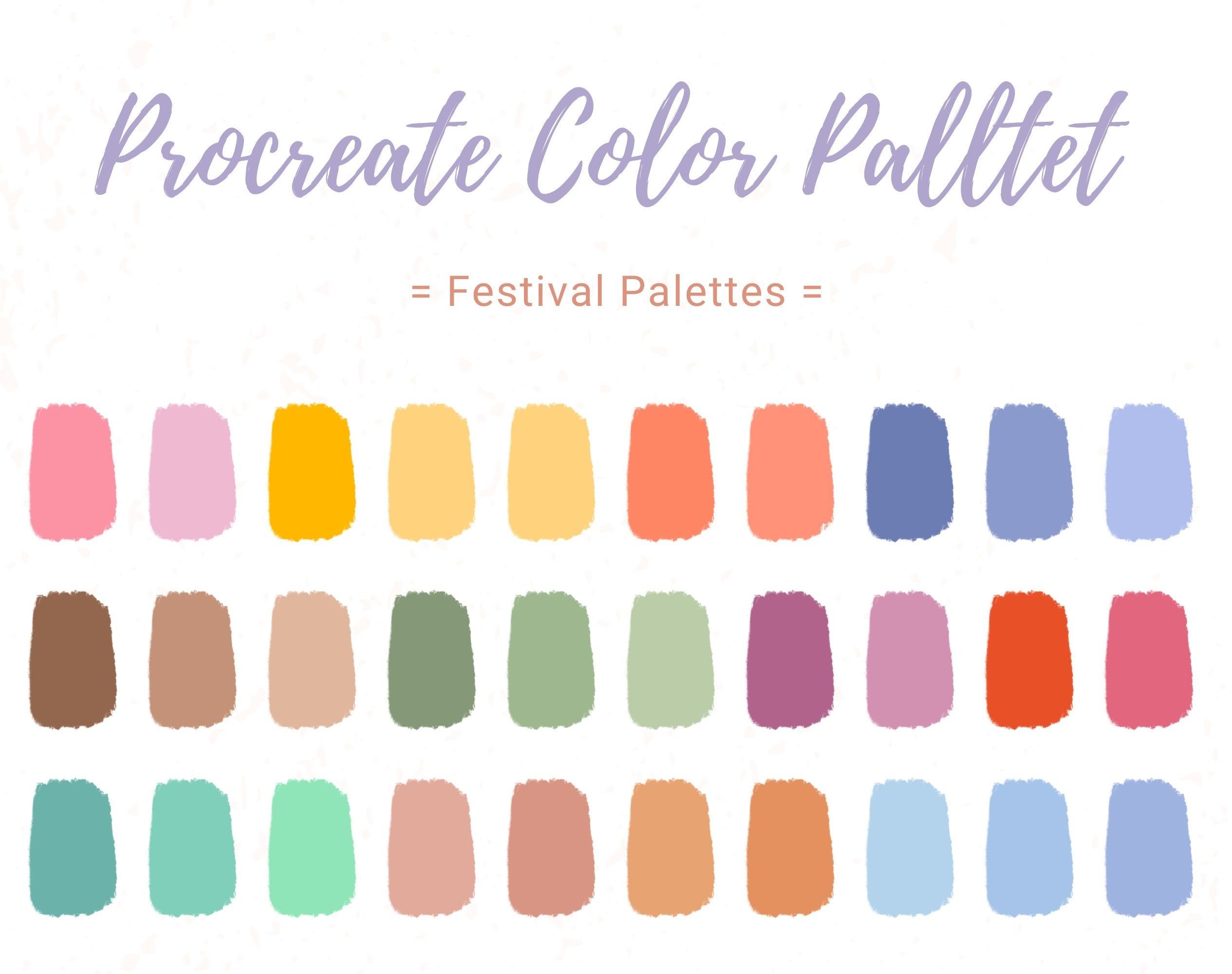 30 Color Palette Colorful Swatch Green Watch Procreate Etsy In 2020 Color Palette Design Color Palette Color Palette Challenge