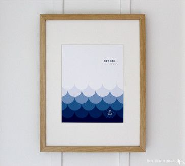 'Set Sail' Nautical Art Print by Flutter Flutter Studio beach style prints and posters