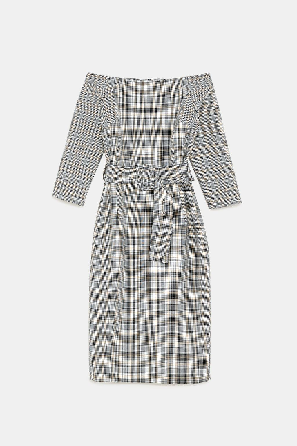 610c68d1 Image 8 of BELTED CHECKERED DRESS from Zara | Dresses | Dresses ...