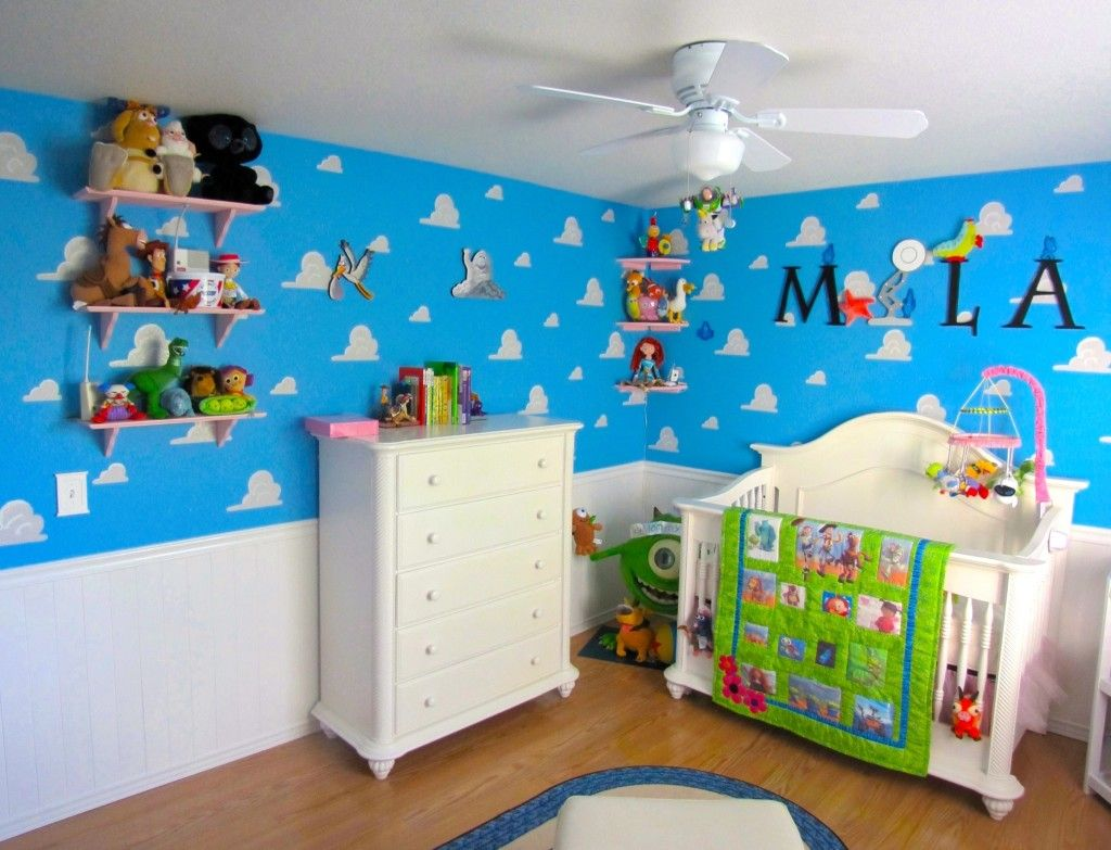Cute Stitch Wallpaper With Glass Walls Pixar Themed Nursery Colorful And Fun Baby Rooms Baby