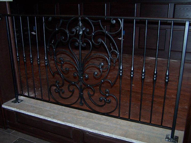 Wrought Iron Interior Railings Stairs Painted Designed