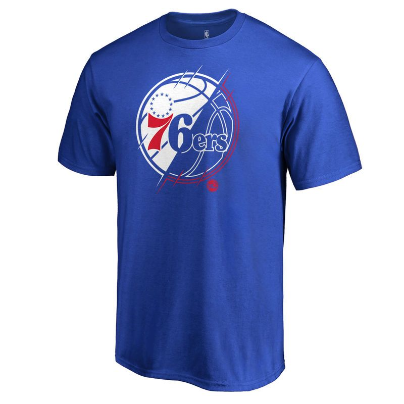 YOUTH Philadelphia 76ers NBA primary logo T Shirt Blue
