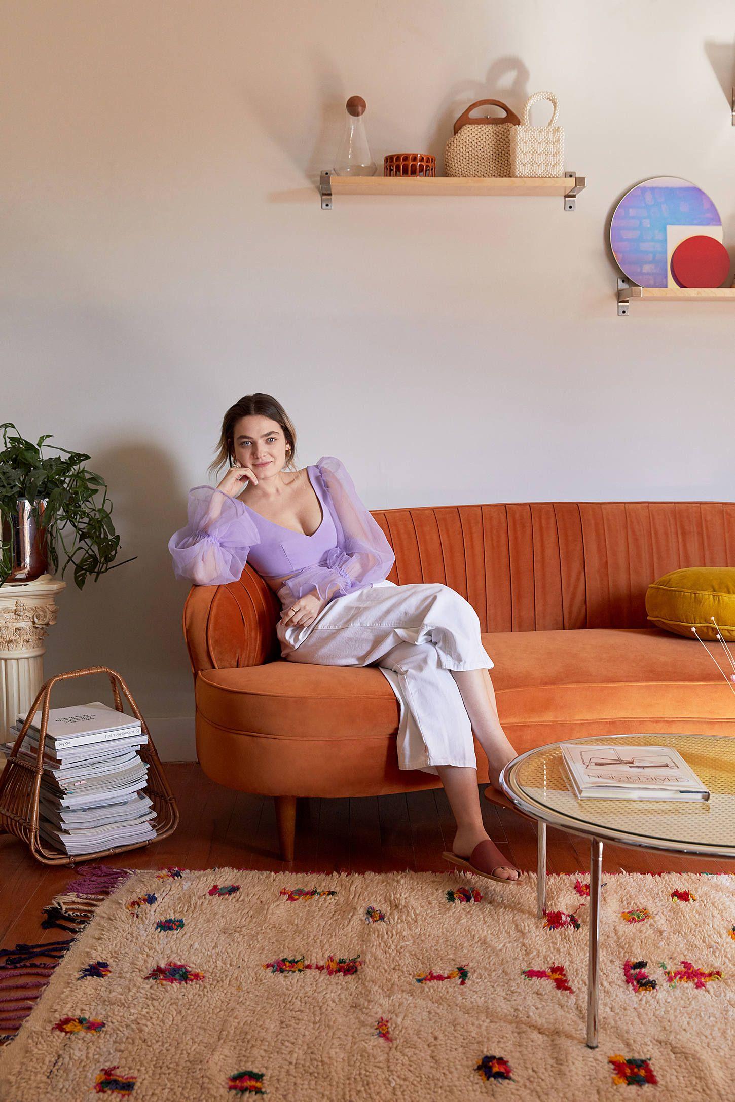 Camila velvet sofa with images velvet sofa eclectic