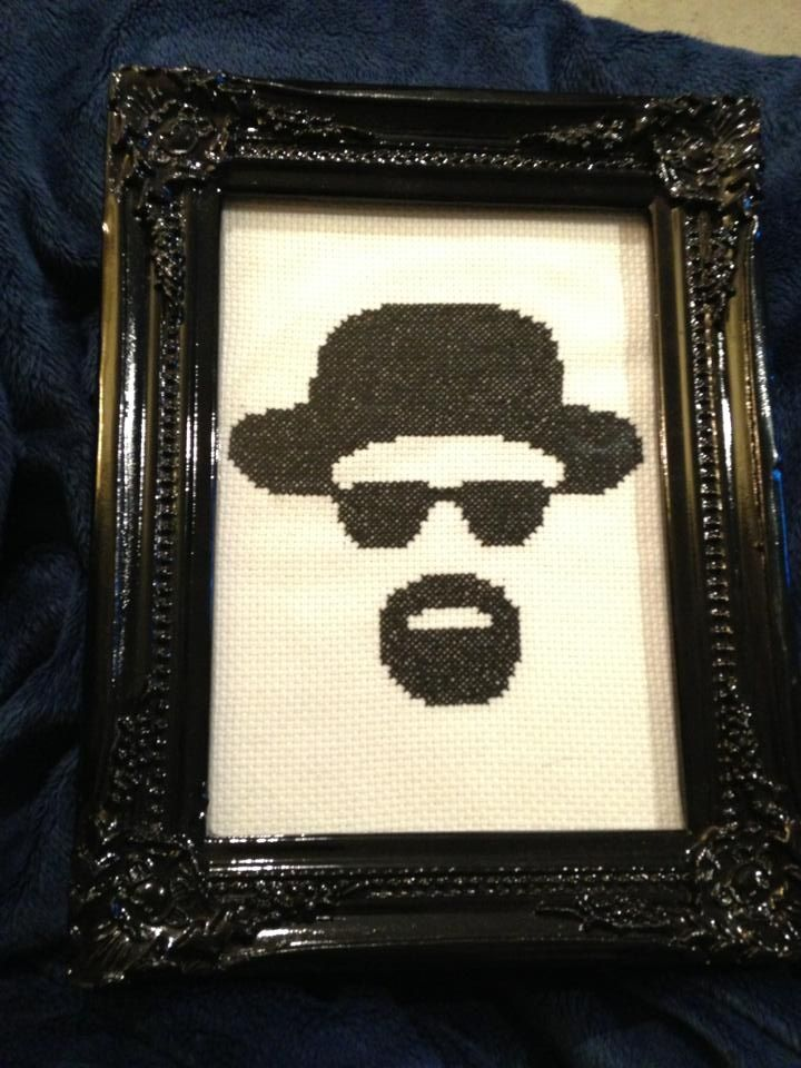 BREAKING BAD - HEISENBERG CROSS STITCH LITTLE RED STITCHES