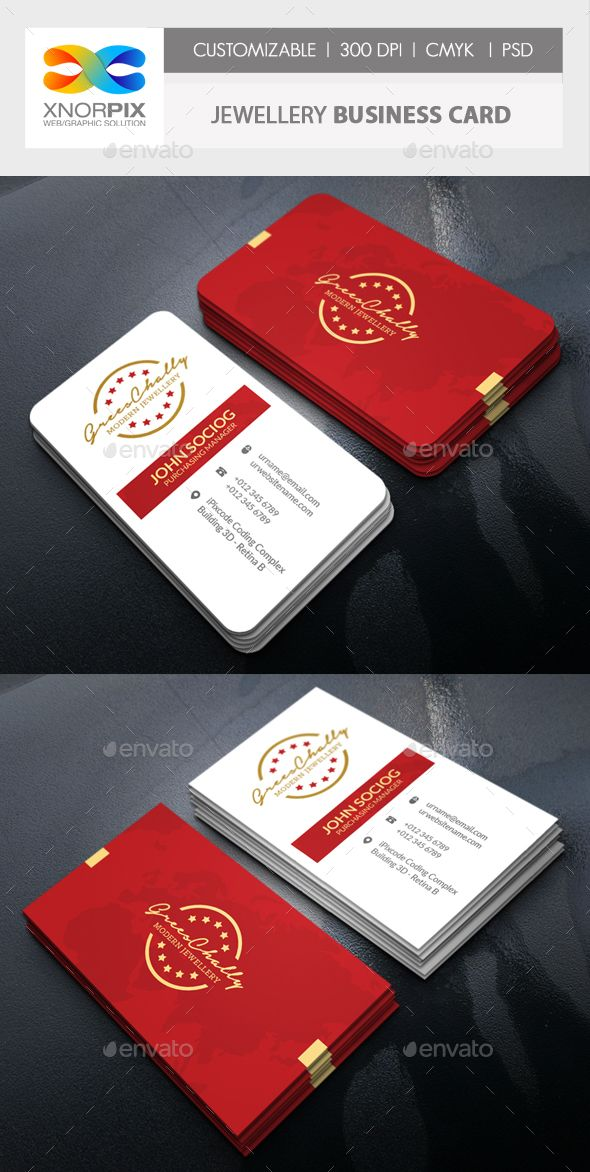 Jewelry business card pinterest business cards corporate jewelry business card by axnorpix features 20adobe photoshop cs4 version 20round square corner possible 20easy to edit reheart Image collections