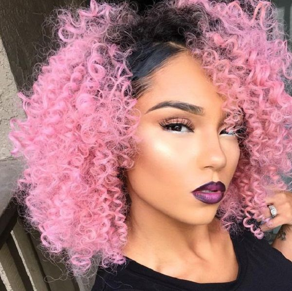 Pinky Natural Hair Curly Brunette