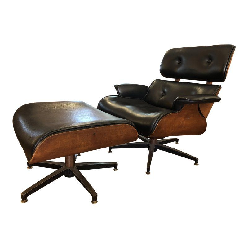 Swell 1960S Charlton Eames Style Lounge Chair Ottoman Chair Unemploymentrelief Wooden Chair Designs For Living Room Unemploymentrelieforg