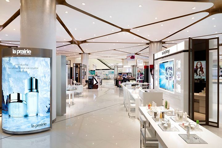 Siam paragon malls beauty department store by hmkm for Interior design department