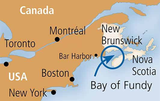 Map From Boston To St John New Brunswick Canada Hiking   Bay of Fundy | New brunswick canada, New brunswick