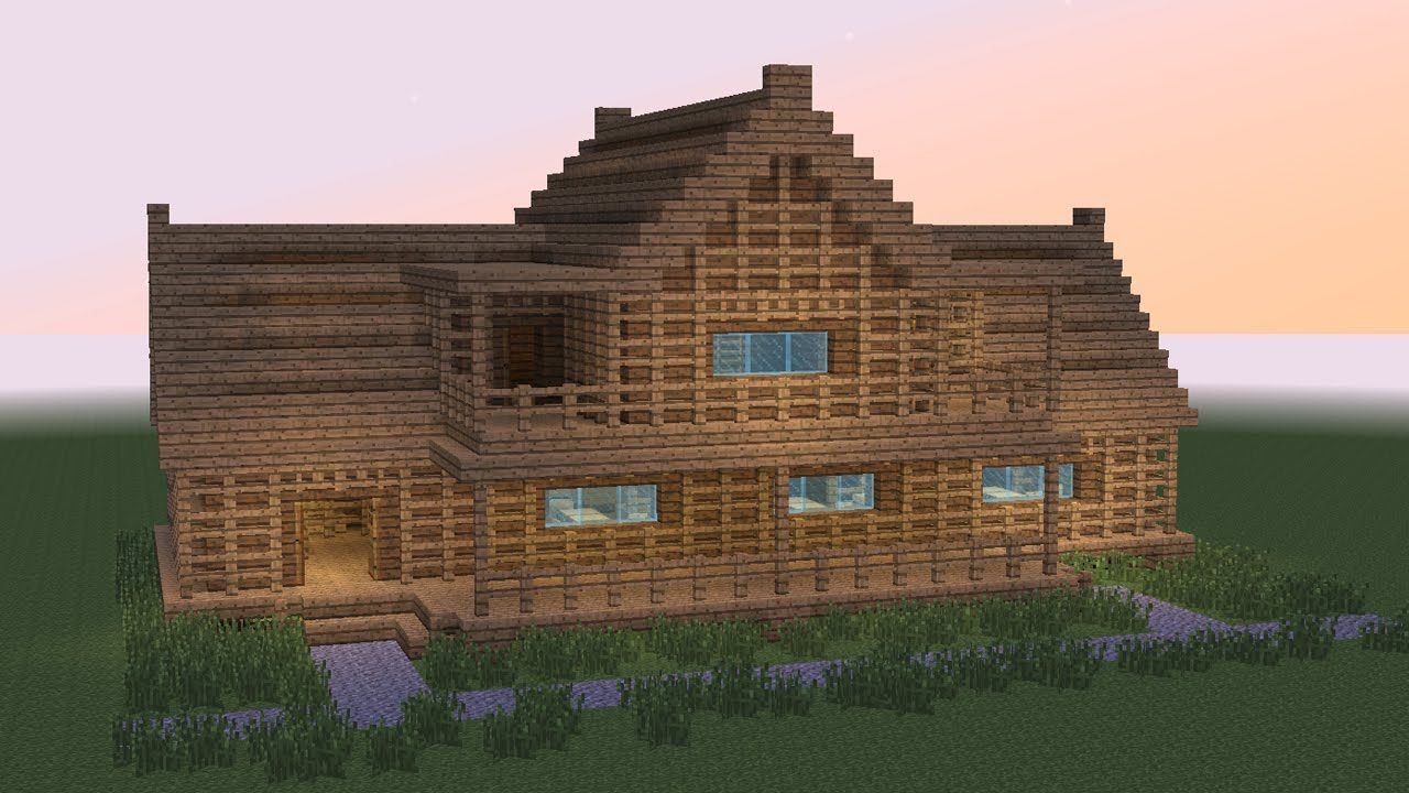 Minecraft How To Build Wooden Tavern 2 Building House Styles Wooden