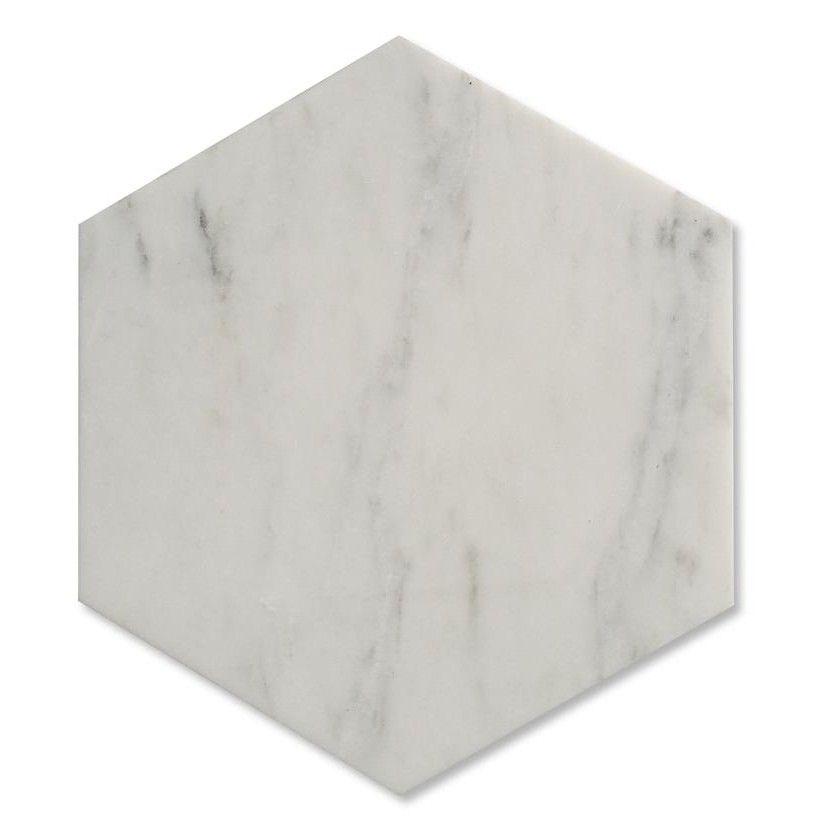 Zenith Carrara Marble Hexagon Tile In White Honed Marble Tiles Honed Marble Hexagon Marble Tile