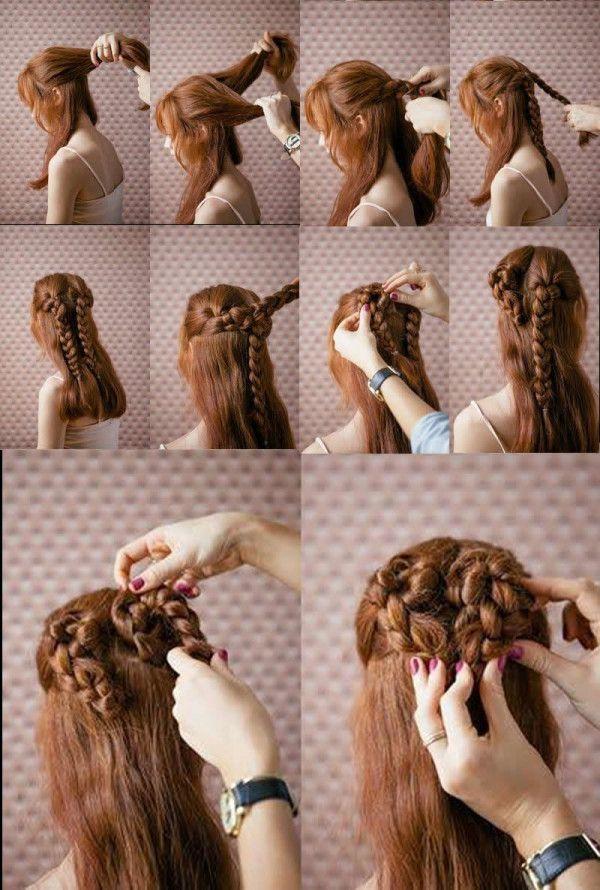Peinados San Valentin 2016 recogido trenza Cortes y peinados