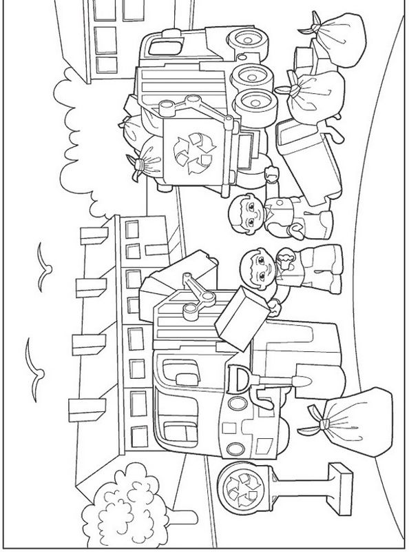 Lego Duplo Coloring Garbage Day Colouring Pages For Lego Duplo Coloring Pages