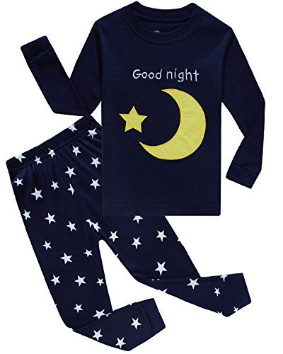 d66d7c70bad IF Pajamas Moon Stars Little Boys Pajamas Sets 100% Cotton Clothes ...
