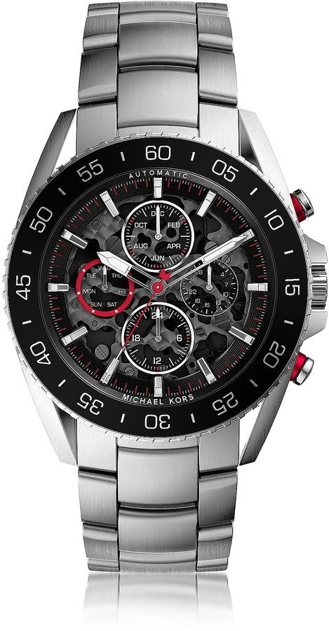 Michael Kors Jetmaster Silver Tone Stainless Steel Men S Chrono Watch Best Watches For Men Michael Kors Mens Watch Watches For Men