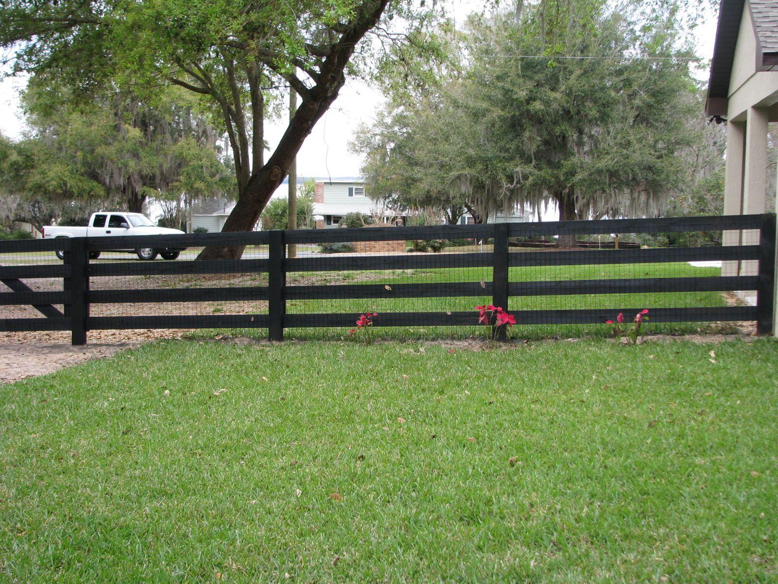 Custom Black Wood Horse Fence Design By Mossy Oak Fence