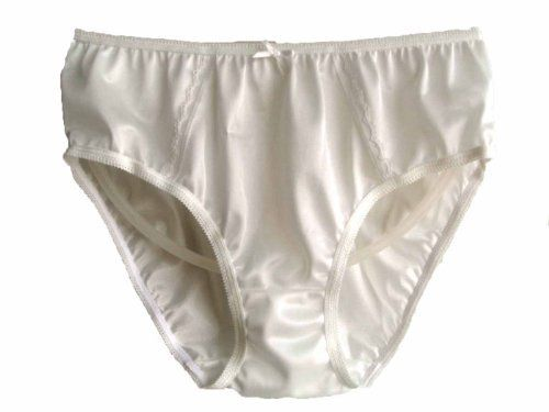 9ebcea8c2 New White Hi-cuts Briefs Lacy Panties Nylon Women Knickers Underwear Size X- large