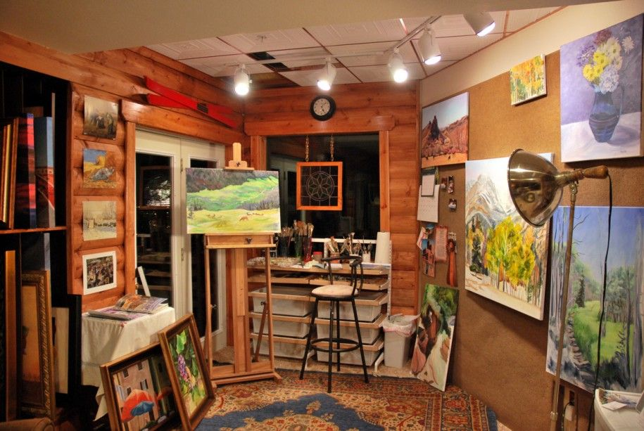 home art studio decoration in various style my studio