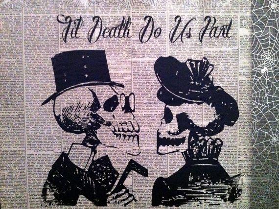 Til Death do Us Part Wall Decor by soulsurfersun on Etsy, $25.00