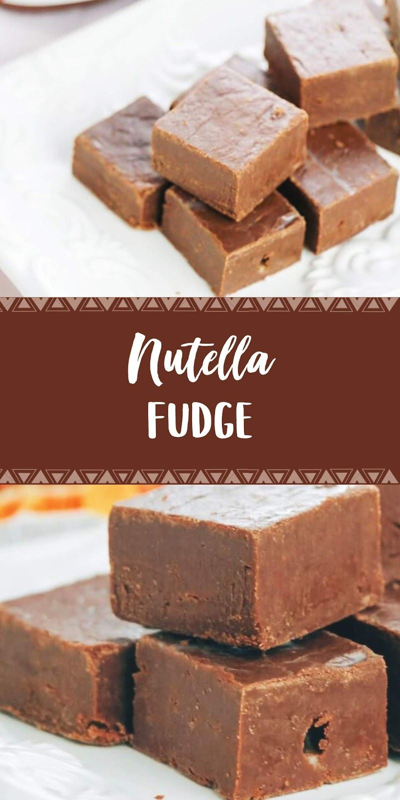 Nutella Fudge Only 3 Ingredients 3 For Dapur Simbah In 2020 Nutella Fudge Yummy Food Dessert Dessert Recipes