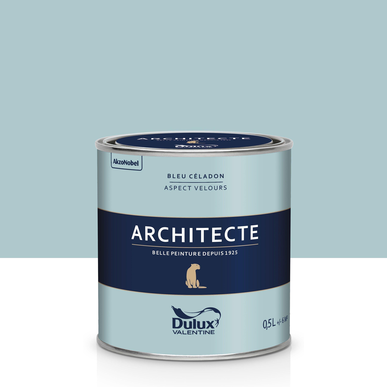 Peinture bleu céladon velours DULUX VALENTINE Architecte 0.5 l en 2020 | Peinture bleu, Dulux ...