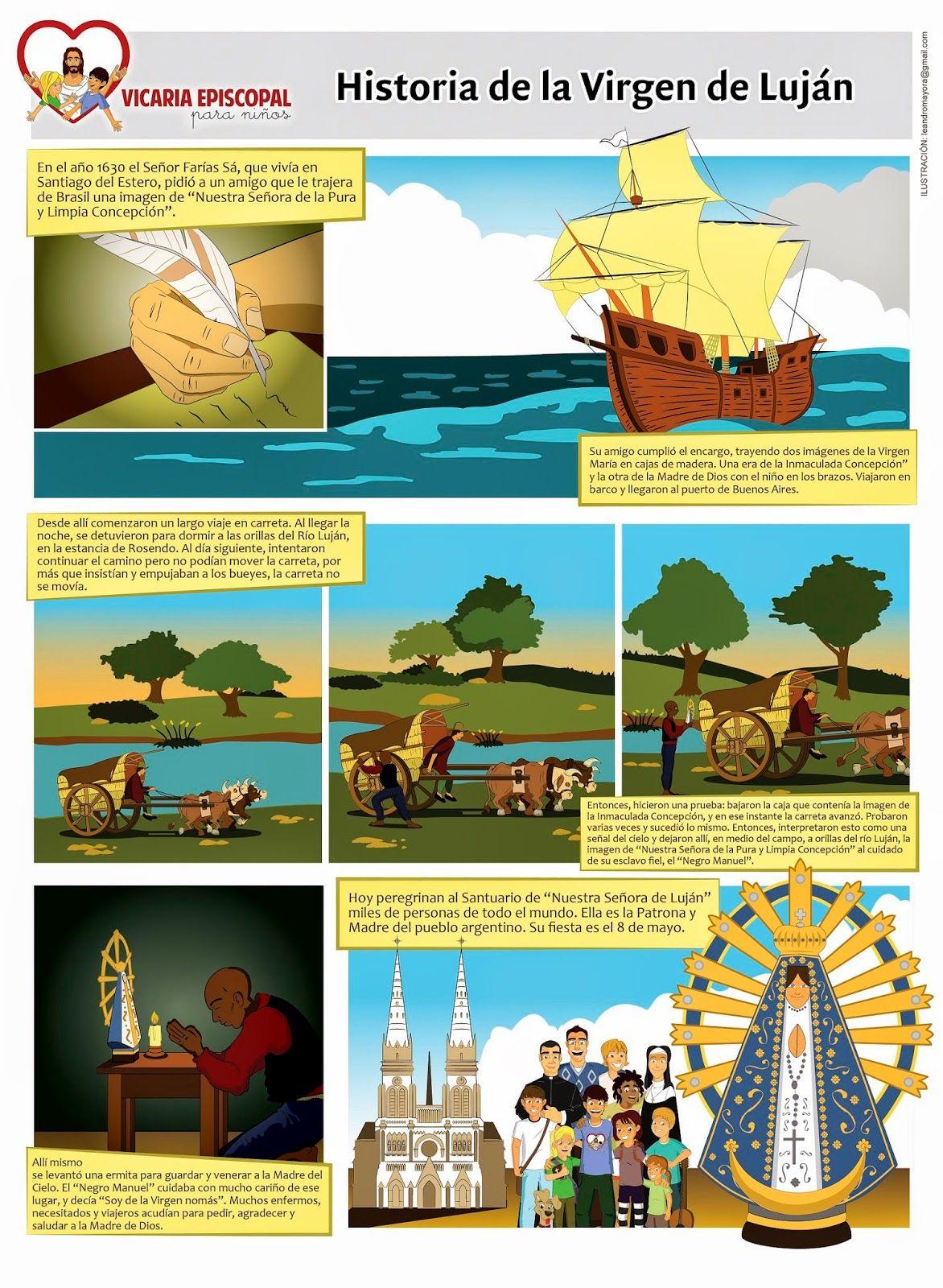 Vicaria Episcopal Para Ninos Historia De La Virgen De Lujan