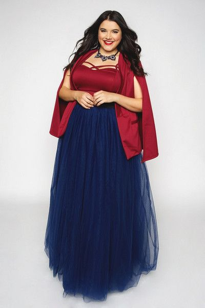 0d2aa4c73f Plus Size Clothing for Women - Loey Lane Long Tutu - Navy (Sizes 1X - 5X) -  Society+ - Society Plus - Buy Online Now!