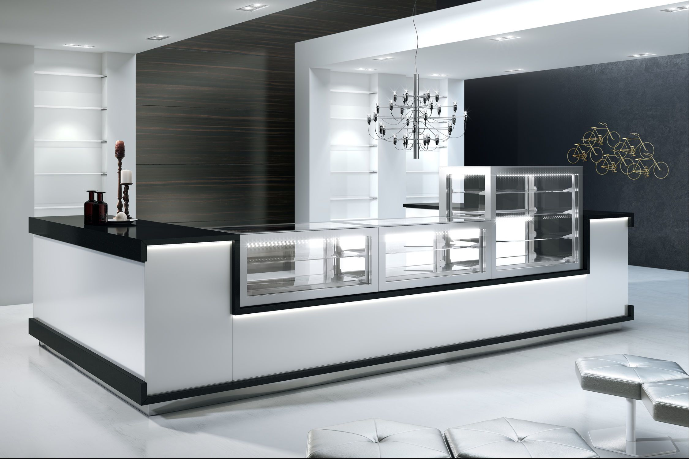 countertop glass refrigerated display cases - Google Search | Crêpe ...
