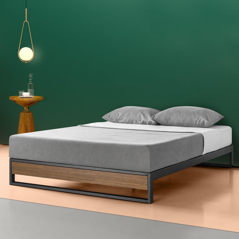 Home In 2020 Wood Platform Bed Bed Frame Black Headboard