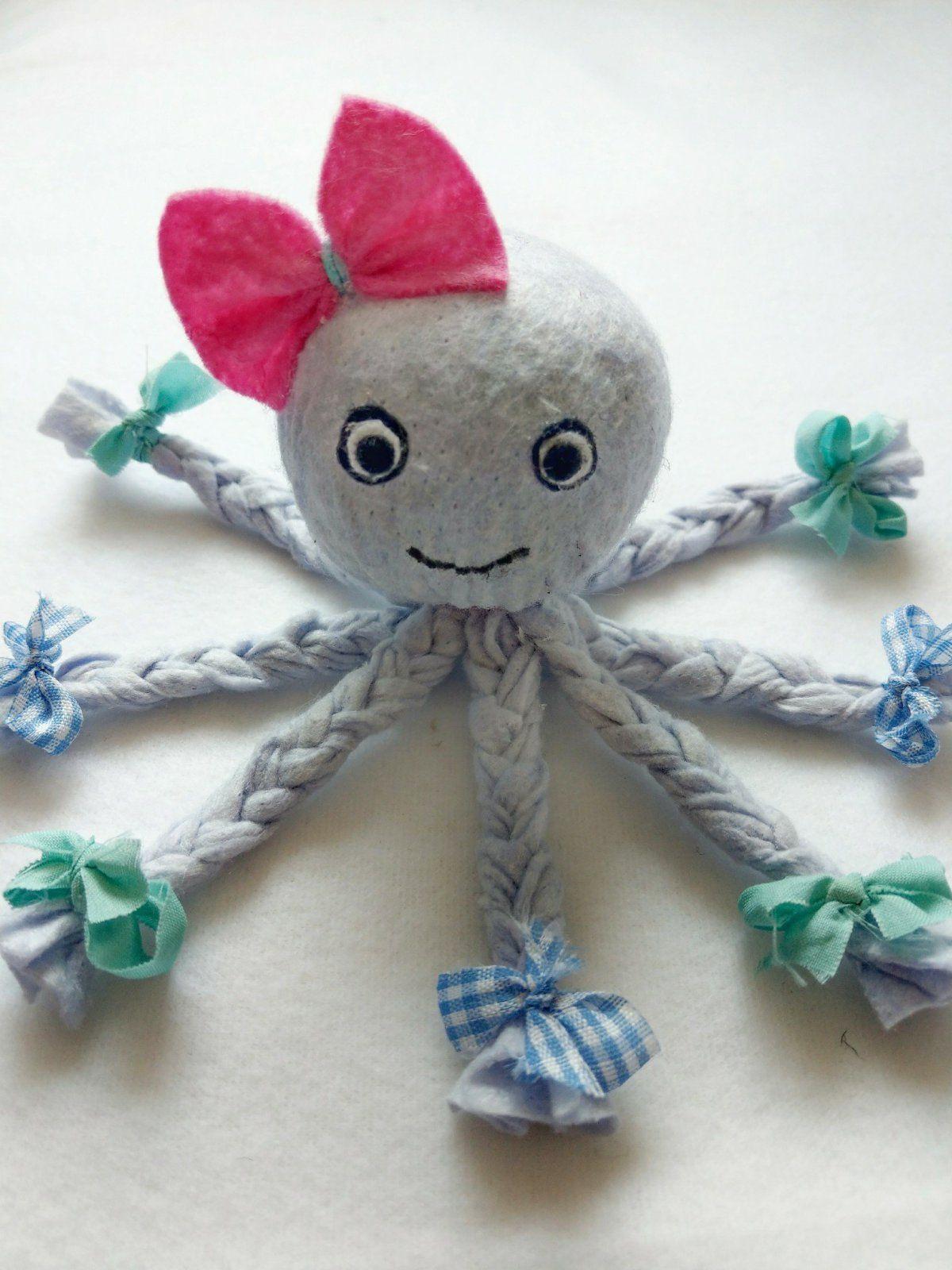 Photo of Octopus aus Allzwecktüchern basteln – als Deko oder Schmusetuch