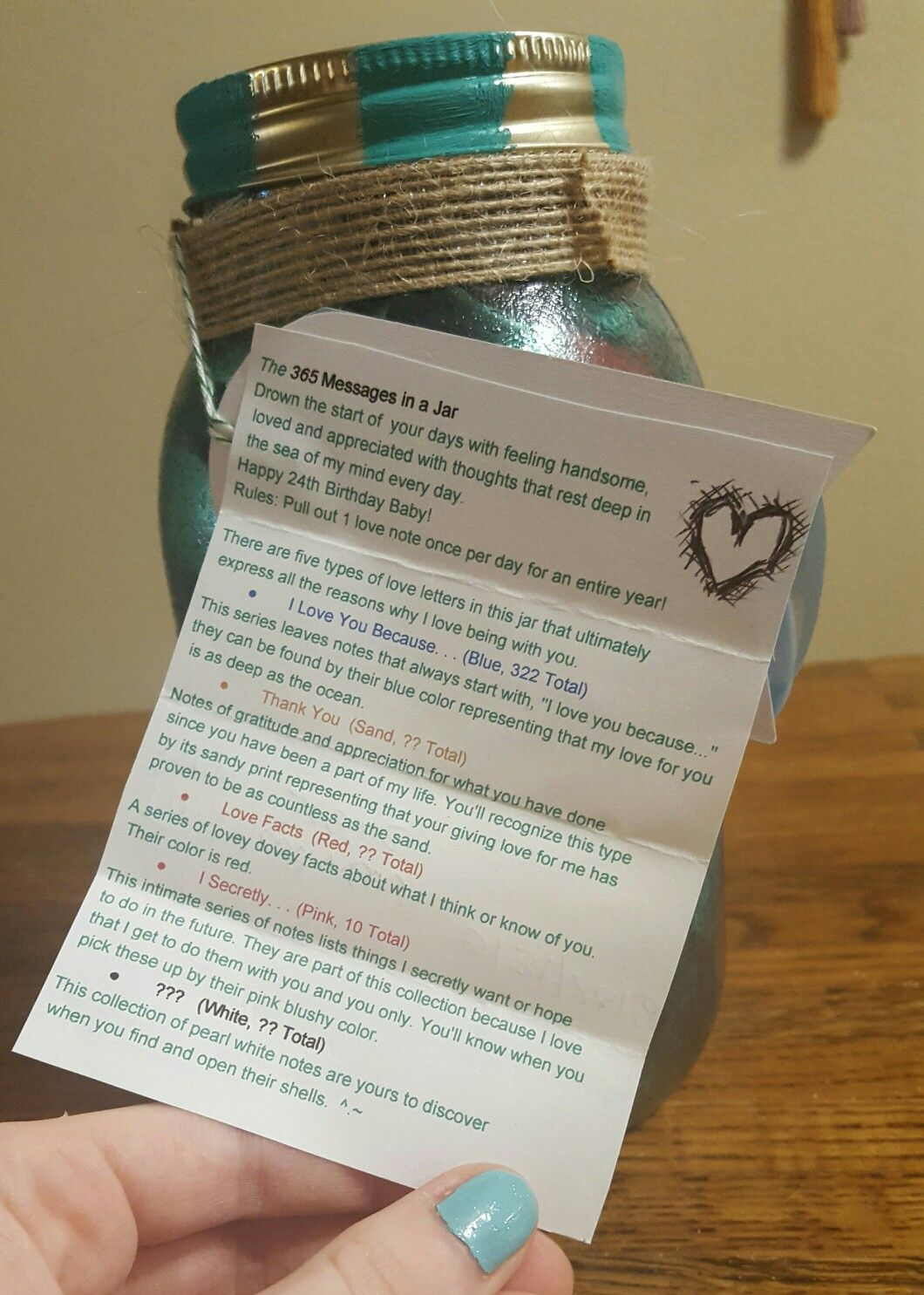 365 Messages In A Jar Message Jar Happy Jar Jar Gifts