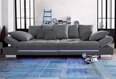 Big-Sofa, wahlweise mit RGB-LED-Beleuchtung Jetzt bestellen unter