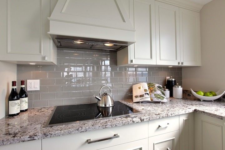 White Kitchen With Grey Countertops Google Search Kitchens