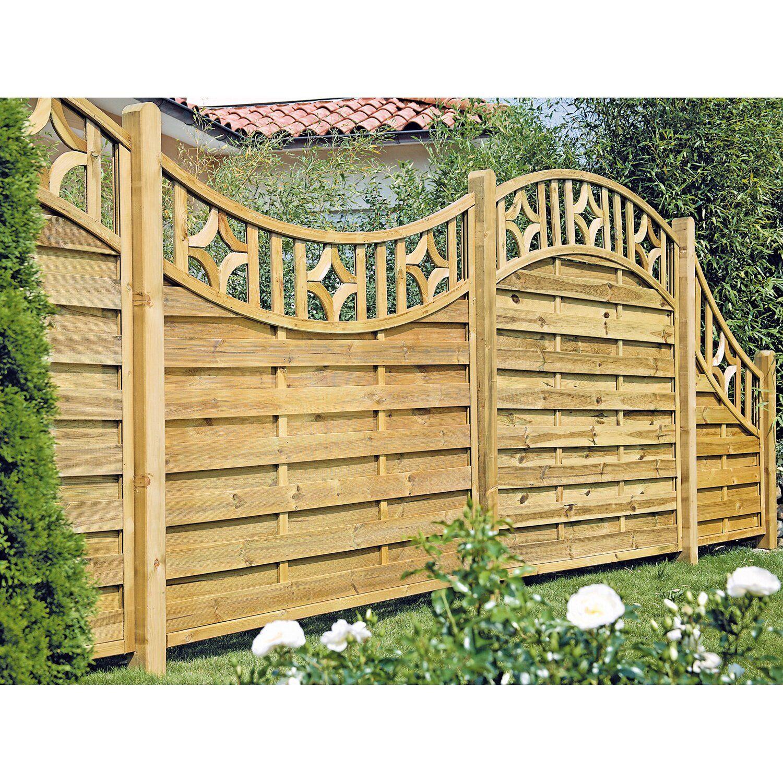 T J Sichtschutzzaun Olymp Serie Doppelbogen Ii 180x160 140 Cm Kaufen Bei Obi Sichtschutzzaun Hinterhof Designs Hintergarten