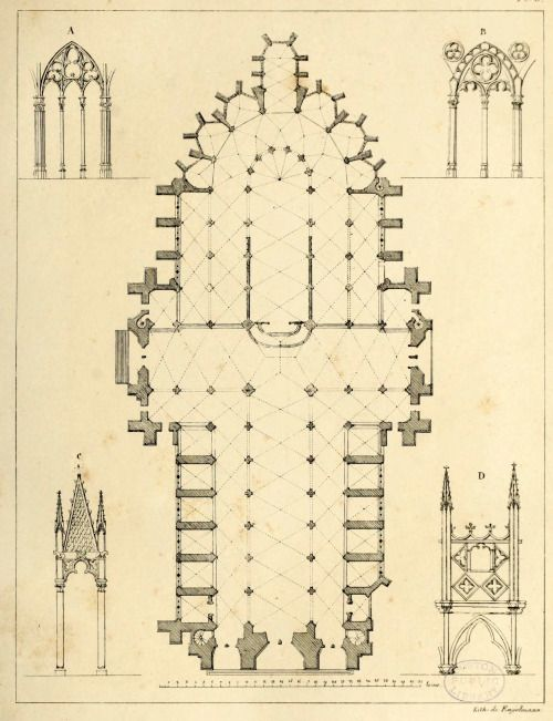 Floor plan and architectural details of the Cathedral ...