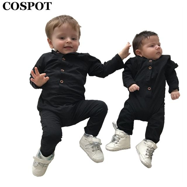 73e1a0201846 Check it on our site 2017 New Baby Boys Rompers Newborn Cotton Long ...