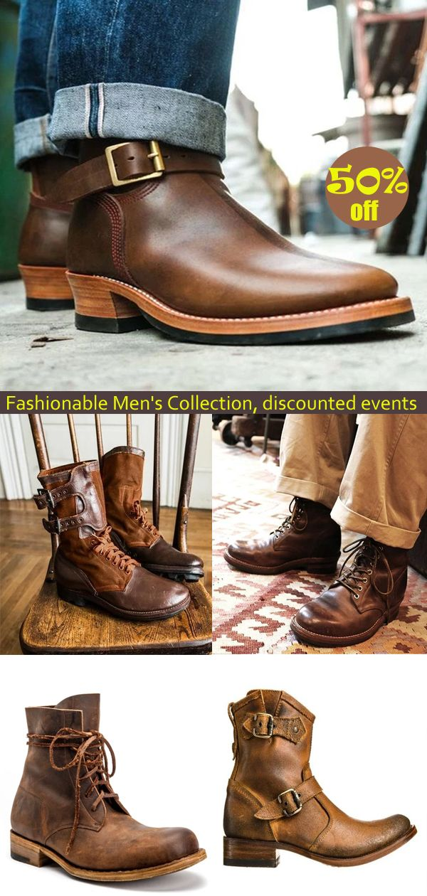 Retro men's boots are now 50% off,save more money,click the link to buy now