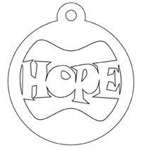 Word Art Hope Faith Love Christmas Religion Spiritual Bible Biblical Holiday Tree Season Ornament Hanger