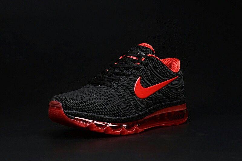 nike air max 2017 women men black red shoes | zapatillas