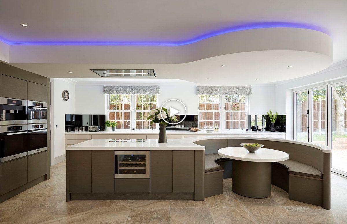 50 Superbe Cuisine Moderne De L Ile De Dessins Modernecuisine Ideesdemaison Modern Kitchen Island Design Curved Kitchen Island Modern Kitchen Island