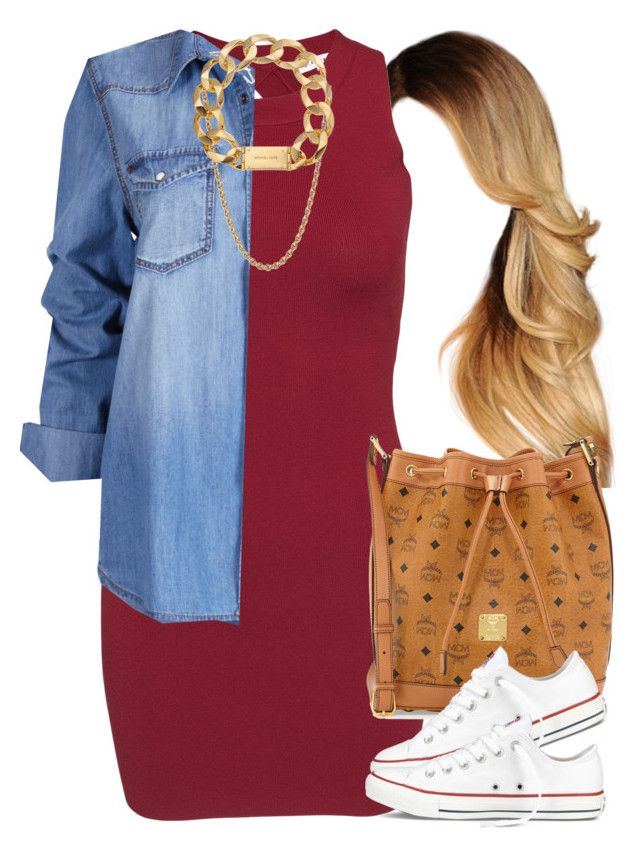 """""""That hairstyle *-*"""" by livelifefreelyy ❤ liked on Polyvore featuring Glamorous, MCM, Converse, Givenchy and Michael Kors"""