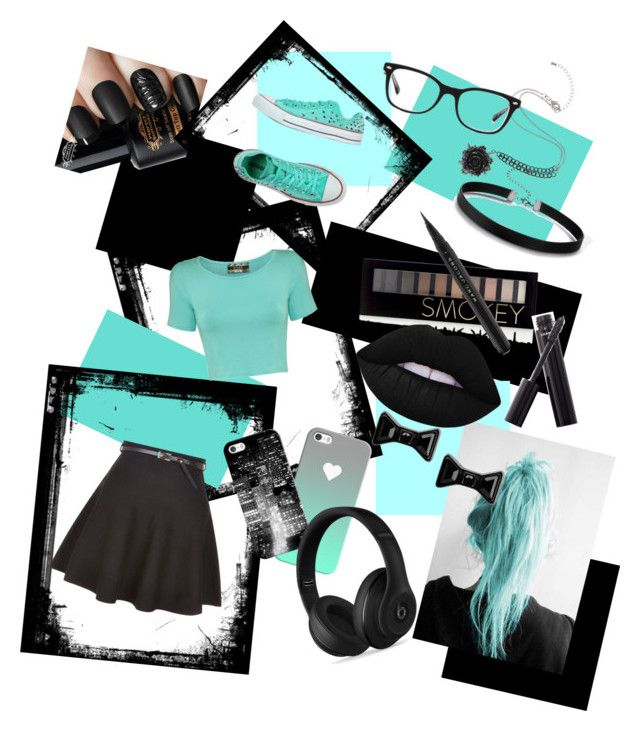 """""""Fancy Teal"""" by olivia0cat on Polyvore featuring New Look, Casetify, Converse, Pilot, Beats by Dr. Dre, Ray-Ban, Forever 21, Chanel, Lime Crime and Marc Jacobs"""