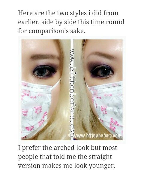 Arched Vs Straight Eyebrows With Images Straight Eyebrows
