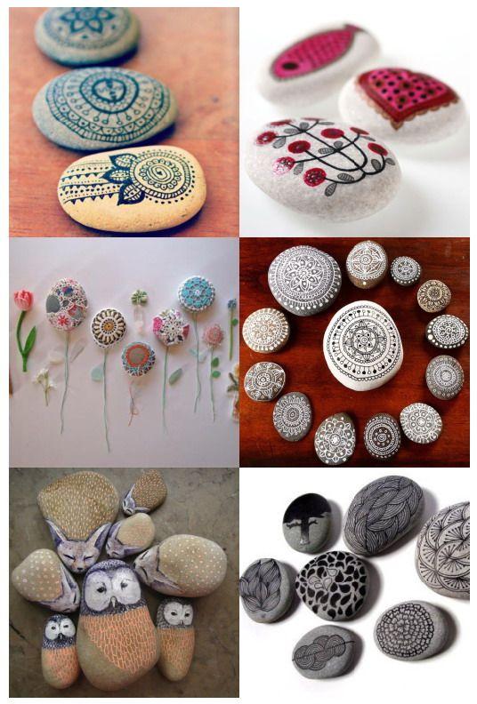 El jardin de los sue os pintando piedras ideas para for Ideas para pintar piedras