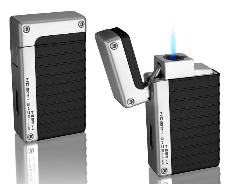 porsche design pd4 black laser flame lighter : elighters | pd