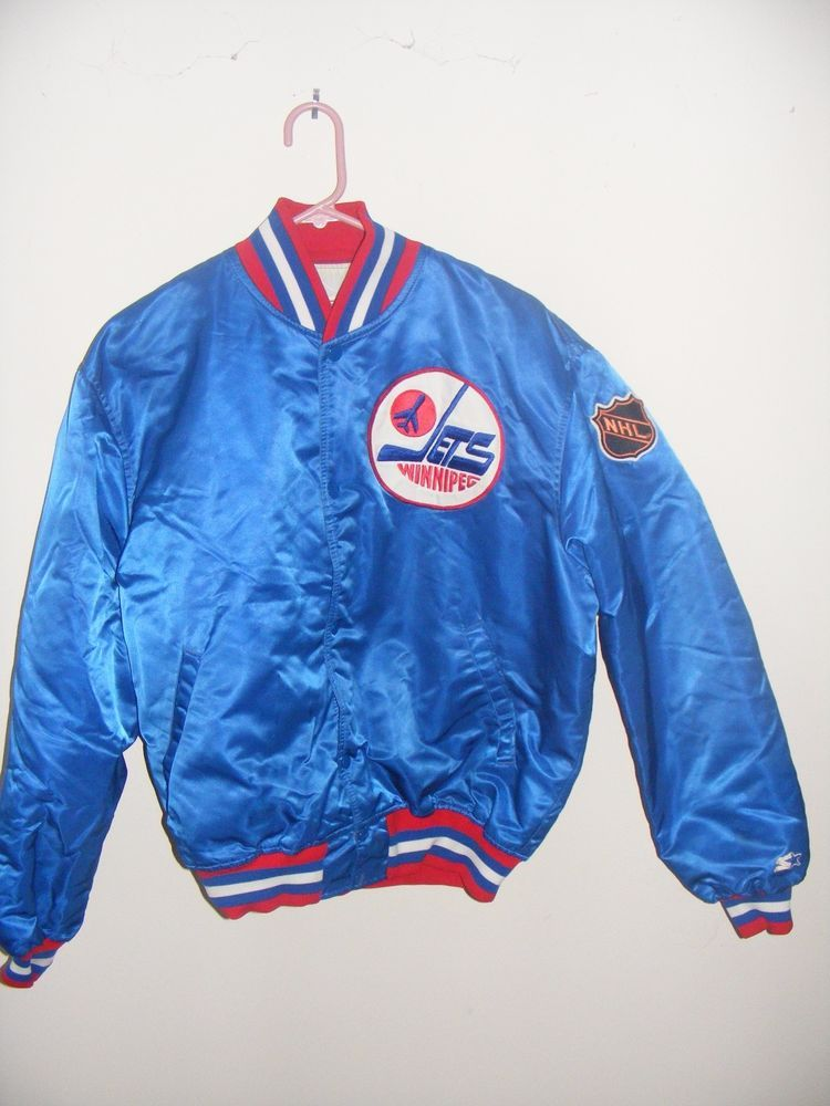 Late 80s Winnipeg Jets Starter Satin Jacket XL  1c1071c30