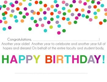 Stupendous School Birthday Card With Images Student Birthdays Student Funny Birthday Cards Online Alyptdamsfinfo