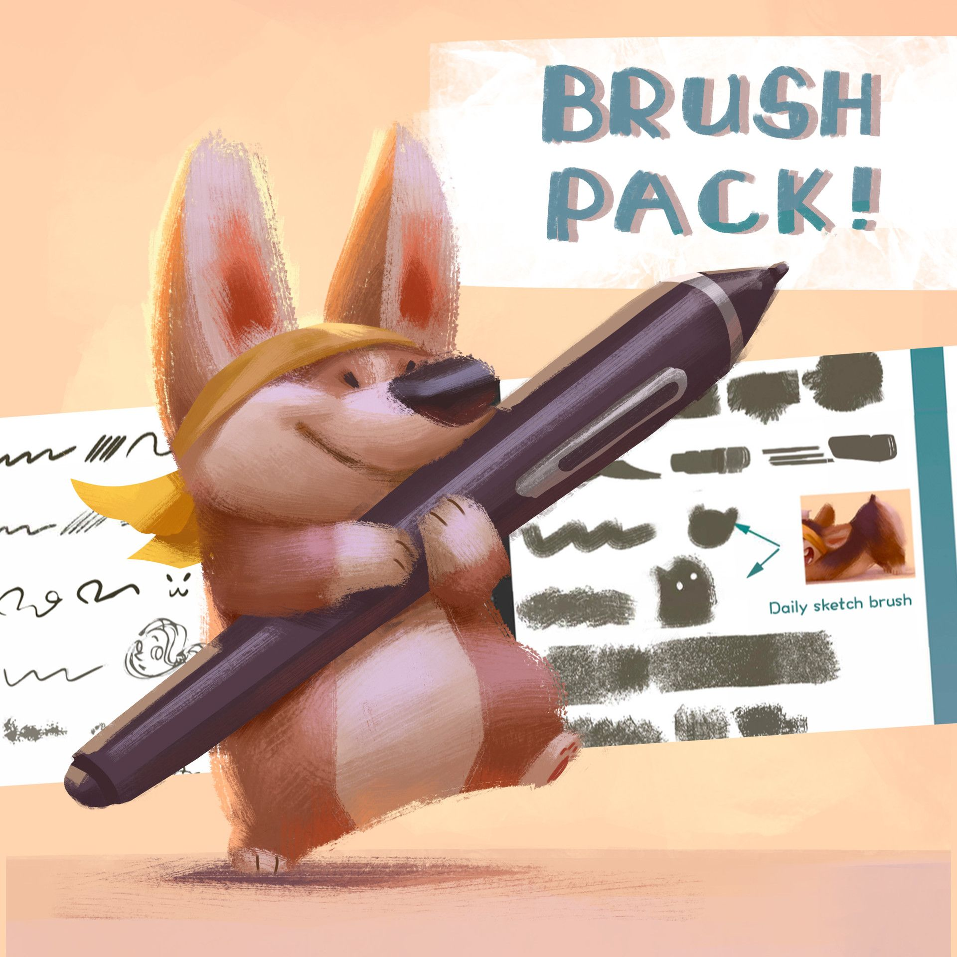 ArtStation PS Brushes!, Lynn Chen Вельшкорги