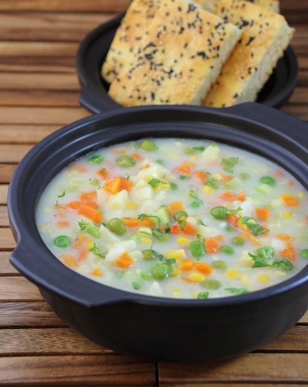 حساء الخضار الغني من ديما حجاوي Vegetable Soup By Deema Hajjawi Recipes Cooking Food
